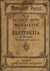 Manualetto di elettricità 1898