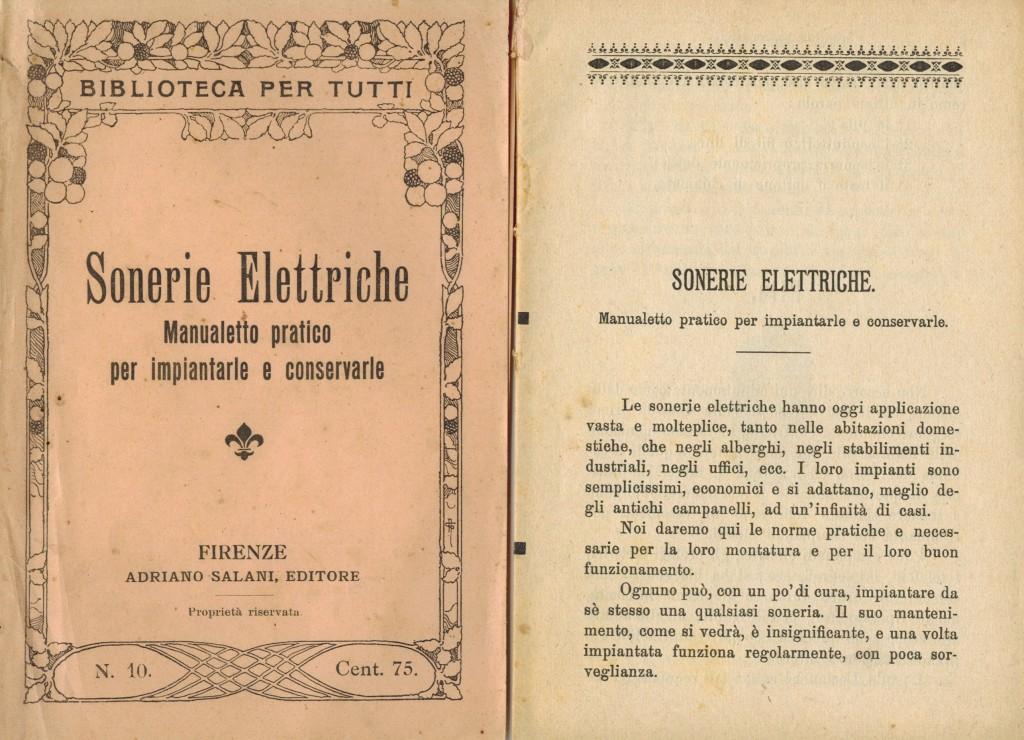 Suonerie elettriche / opuscoli manuali elettrici