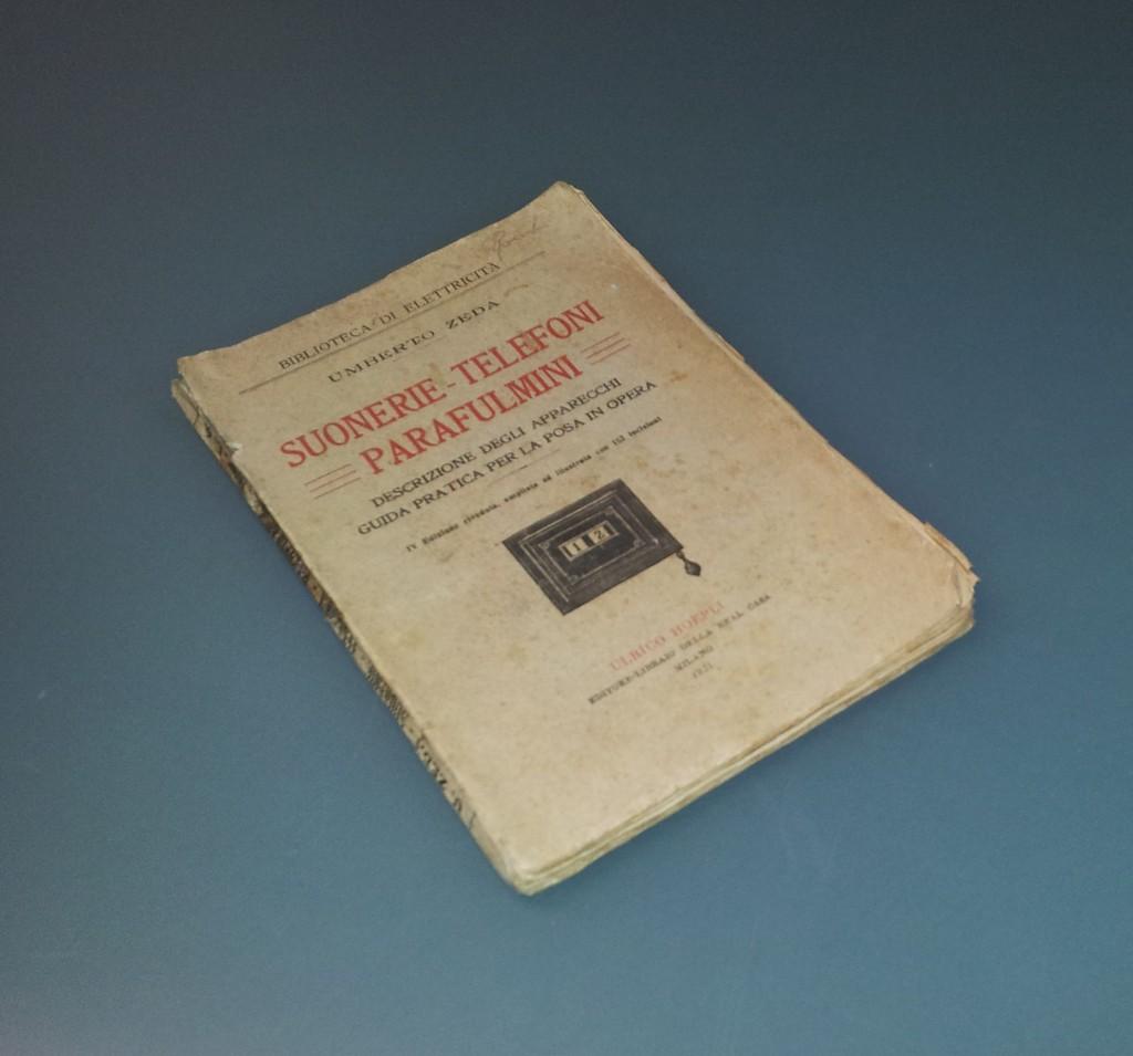 Suonerie telefoni parafulmini 1921 / vecchio opuscolo manuale elettrico