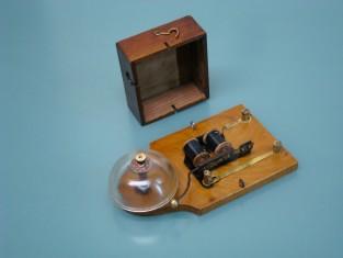 Campanello elettrico 1930~ cristallo 18x10x5a