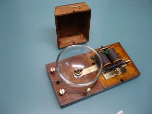 Campanello 1940~ campana vetro 26x13x10 24v. .
