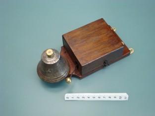 Campanello 21x9x7 campana bronzo fine 1800~ 4-8v.