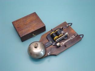 Campanello 22x10x5 campana bronzo 1930~ 12v.