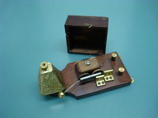 campanello elettrico bronzo fine-1800-18x8x9-v. 4-6