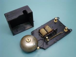 Campanello bronzo legno 1900~ 23x10x6 3-6v.