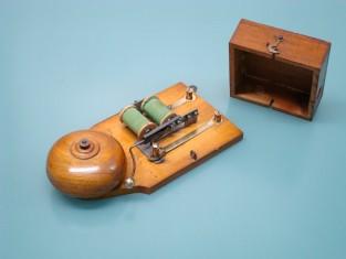 Campanello elettrico 1930~ legno 19x10x4
