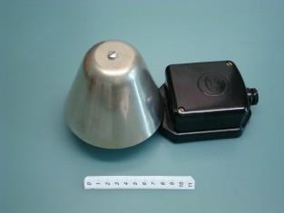 Campanello elettrico 24x12x12 bachilite e camp. ferro 1950~