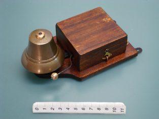Campanello elettrico bronzo 1910 18x10x7-4-6v