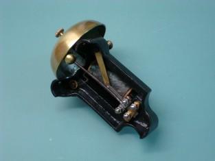 Campanello elettrico tel. ghisa camp. ottone 13x8x7 1940~