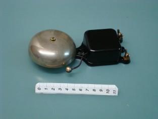 Campanello elettrico telaio ghisa camp. bronzo 16x8x4 1920~