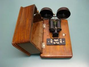 Campanello x telefono campane ferro 16x23xh9 1940~ .JPG