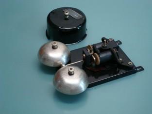 Campanello elettrico 15x20x7 telefonico telaio in rame1940~