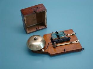 Campanello elettrico 20x10x5 camp ottone 1910~