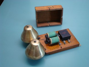 Campanello telefonico 29x19x12 campane ottone 1930~