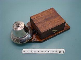 Campanelloelettrico 1930~ campana bronzo cromato 19x9xh7   4-8v.