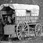 Carro pile in batteria per telegrafo USA