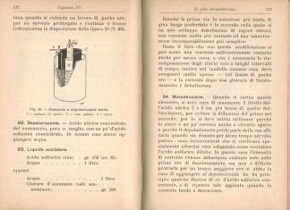 Pila depolarizzante acido Bunsen 132 133