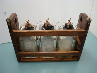 3 battery Leclanché 1866  - 3 pile electriqueLeclanché